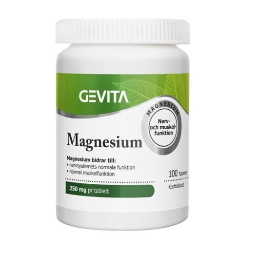 Gevita Magnesium 100 tabletter på apotek.nu EAN 5702071383833