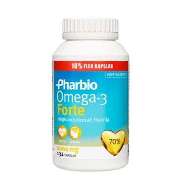 Pharbio Omega-3 Forte 132st på apotek.nu EAN 7310611008177
