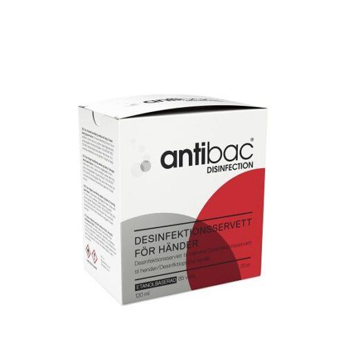 Antibac Desinfektionsservett för händer 20st på apotek.nu EAN 7054956030393