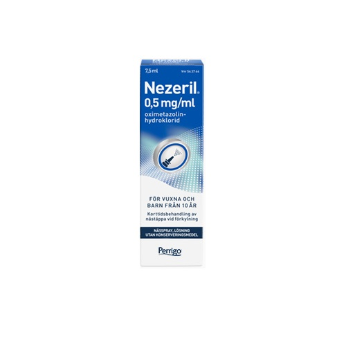 Nezeril Nässpray Lösning 0,5mg/ml 7,5ml på apotek.nu EAN 7046265437444