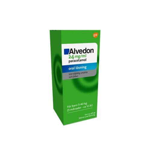 Alvedon oral lösning 24 mg/ml 100 ml på apotek.nu EAN 7046265248392