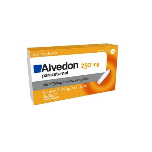 Alvedon suppositorium 250mg 10 st (15- 40 kg) på apotek.nu EAN 7046264457757