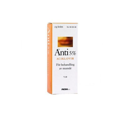 Anti kräm 5 % 2 g på apotek.nu EAN 7046260005280