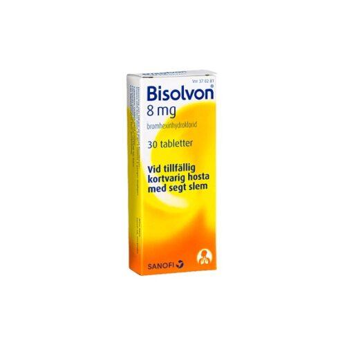 Bisolvon tablett 8mg 30 st på apotek.nu EAN 3582910089735
