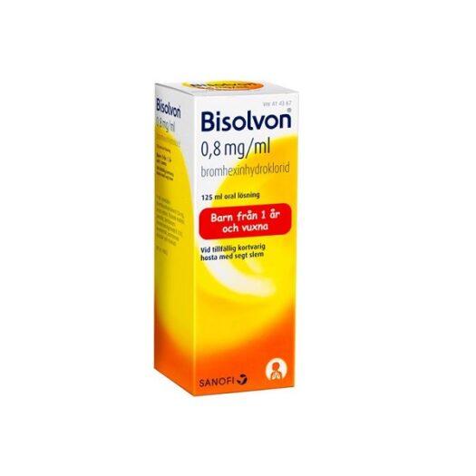 Bisolvon oral lösning 0,8 mg/l 125 ml på apotek.nu EAN 7046264143674