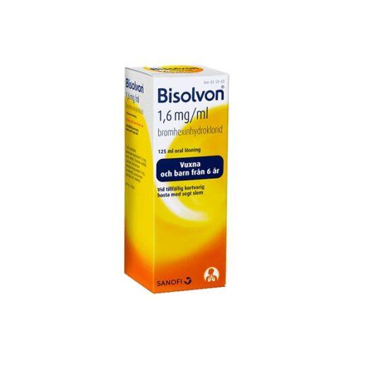 Bisolvon oral lösning 1,6 mg/l 125ml på apotek.nu EAN 7046260159433