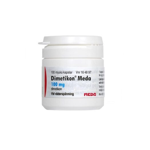Dimetikon Meda kapsel mjuk 100mg 100 st på apotek.nu EAN 7046221648977