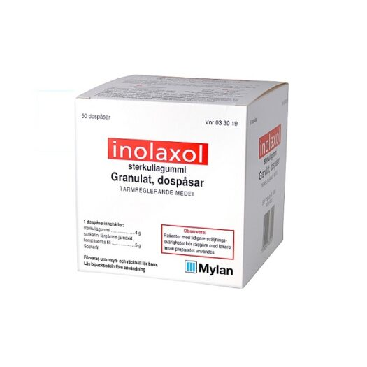 Inolaxol granulat i dospåse 50 st på apotek.nu EAN 7046260330191