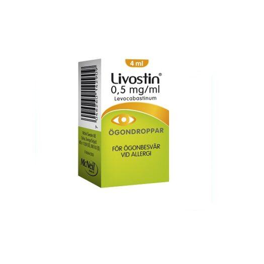 Livostin ögondroppar suspension 0,5mg/ml 4 ml på apotek.nu EAN 3574661021607