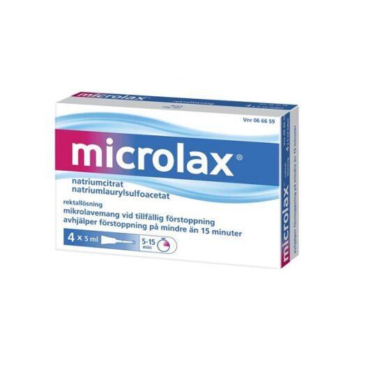 Microlax rektallösning 4x5ml på apotek.nu EAN 3574661085395