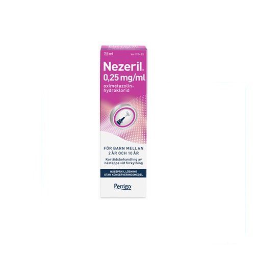 Nezeril Nässpray Lösning 0,25mg/ml 7,5 ml på apotek.nu EAN 7046261914031