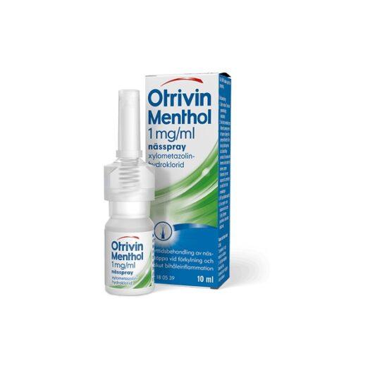 Otrivin Menthol nässpray 1 mg/ml 10 ml på apotek.nu EAN 7046261805391