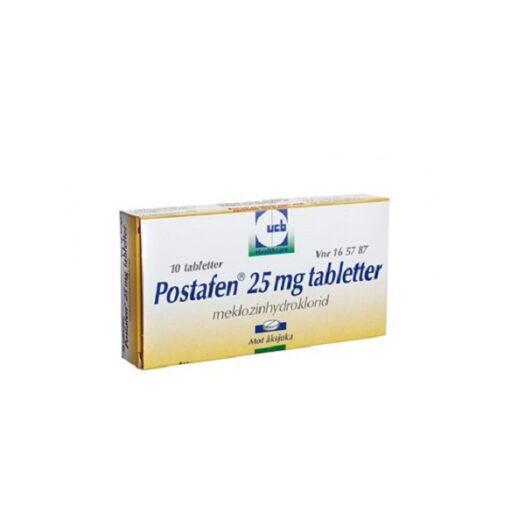 Postafen tablett 25 mg 10 st på apotek.nu EAN 7046261657877