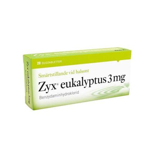 Zyx Eukalyptus sugtablett 3 mg 20st på apotek.nu EAN 7046264135488