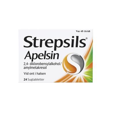 Strepsils Apelsin sugtablett 24 st på apotek.nu EAN 7046264916681