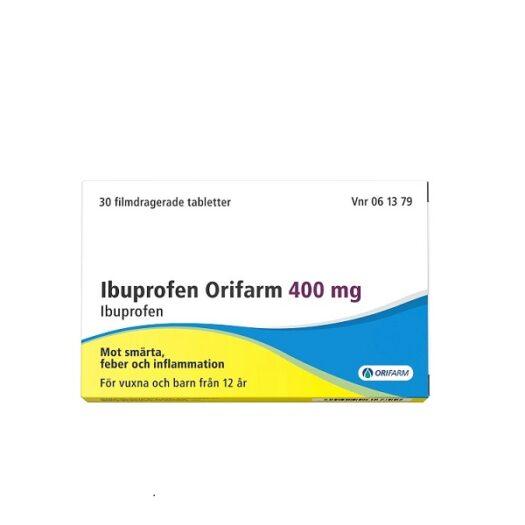 Ibuprofen Orifarm tablett 400mg EAN 7046260613799