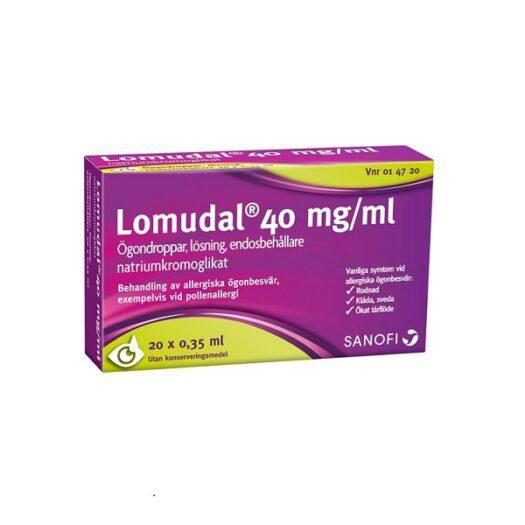 Lomudal ögondroppar endosbehållare EAN 7046260147201