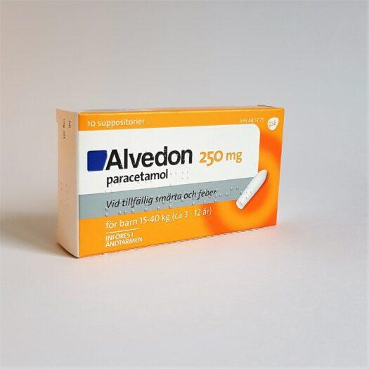 Alvedon suppar 250 mg