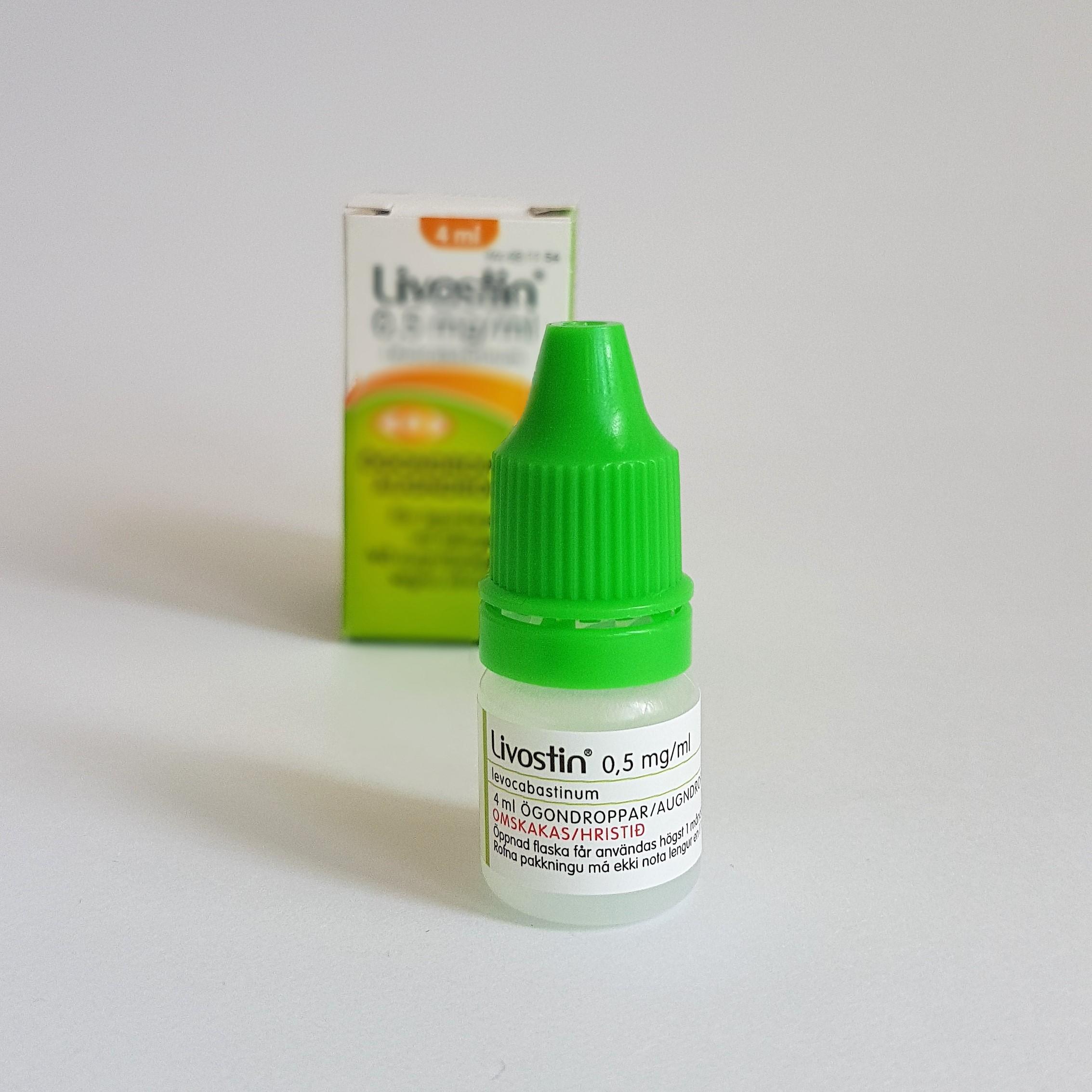 livostin ögondroppar dosering