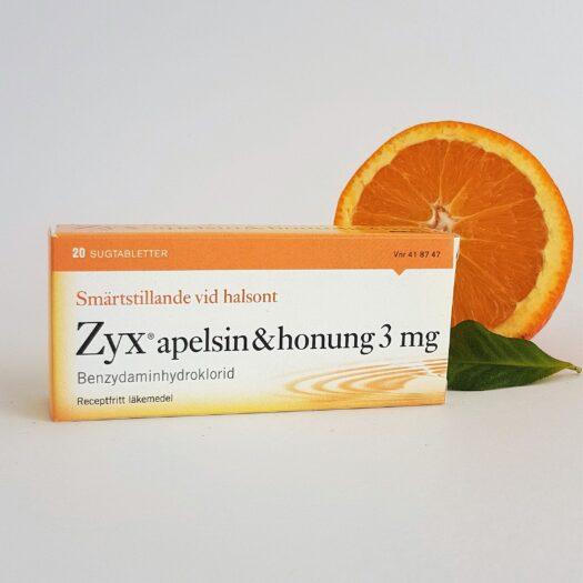 Zyx Apelsin Halstabletter