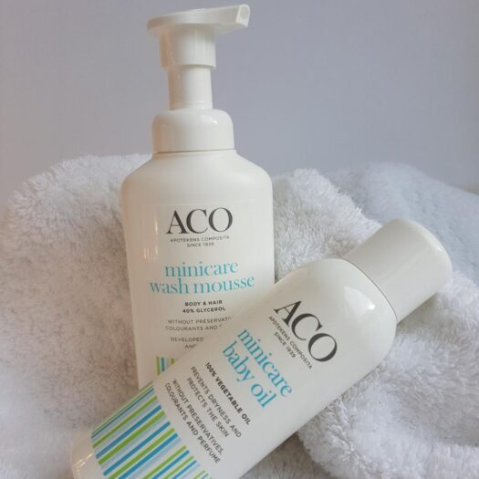 ACO Minicare hudvårdsprodukter