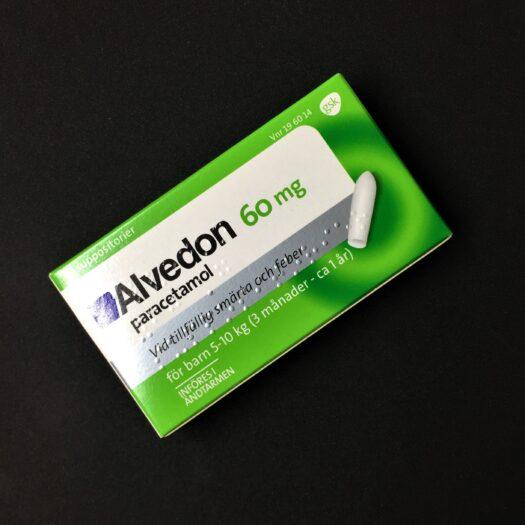Alvedon suppositorier 60 mg