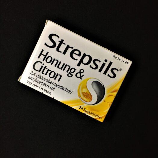 Strepsils honung och citron sugtabletter