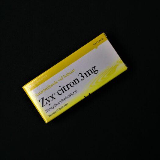 Zyx Citron sugtabletter